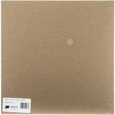 """Grafix Craft Plastic Sheets 12""""X12"""" 25/Pkg-Clear .020"""