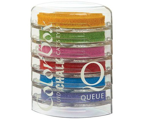 Chalk Cat's Eye Queue 6-Color Ink Pad Set - A - image 1 of 1
