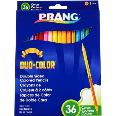 Prang Duo Colored Pencils, 36 Assorted Colors, set of 18