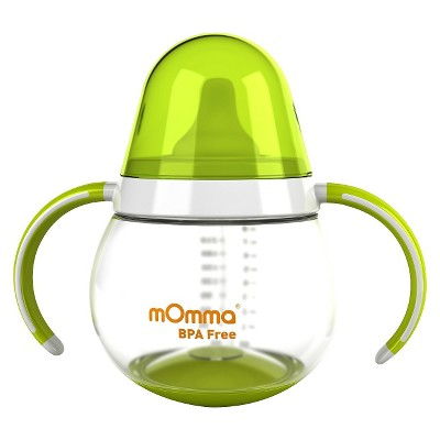 mOmma Spill-Proof Sippy Cup with Dual Handles - Green