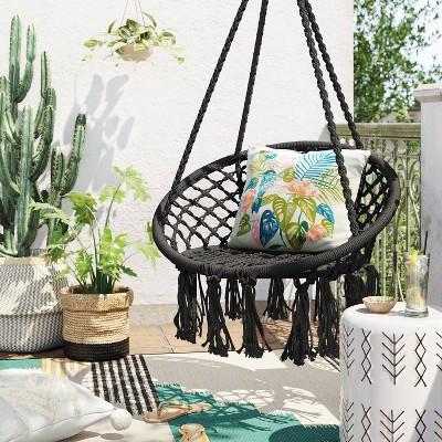 Single Hammock Rope Chair - Black - Opalhouse™