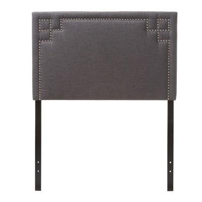 Geneva Modern And Contemporary Fabric Upholstered Headboard - Twin - Baxton Studio