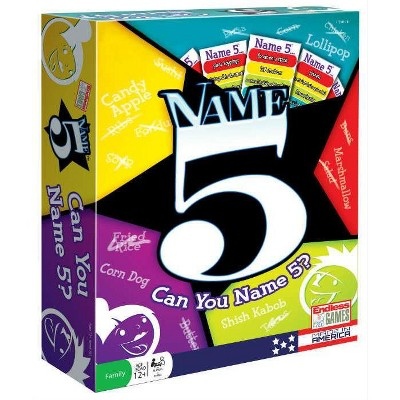 Name 5 (2016 Edition) Board Game