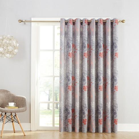 Helen Extra Wide Energy Efficient Sliding Patio Door Curtain Panel