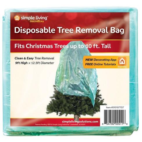 simple living innovations disposable christmas tree trash bag - Christmas Tree Garbage Bag