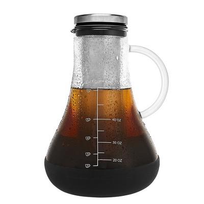 JoyJolt Fresco Airtight Cold Brew Iced Coffee Maker - 48 oz Tea Maker with Non-Slip Silicone Base