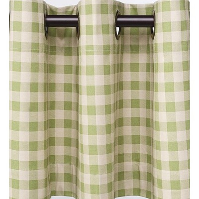 """Thermalogicª Check Grommet-Top Curtain Pair, 72""""L"""