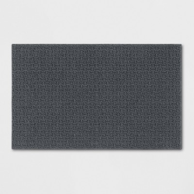"2'6""X3'10""/30""X46"" Solid Washable Tufted Accent Rug Gray - Made By Design™"