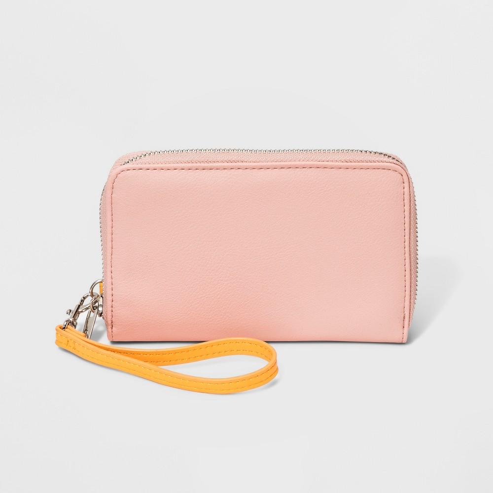 Women's Zip Around Wallet - Wild Fable Pink