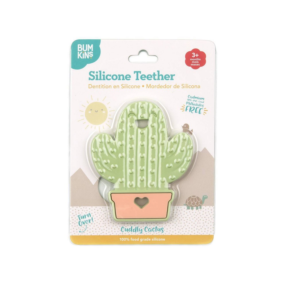 Image of Bumkins Silicone Teether Cactus