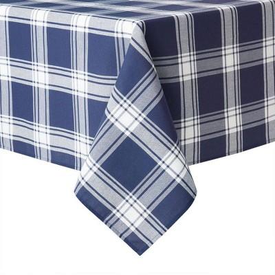 """84""""x 60"""" Cotton Buffalo Check Tablecloth Blue - Town & County Living"""
