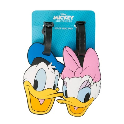 Disney Daisy and Donald Rubber Luggage Tag Set