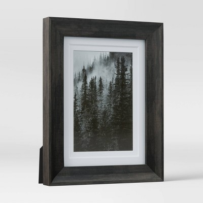 "4"" x 6"" Double Matted Table Frame Dark Brown - Threshold™"