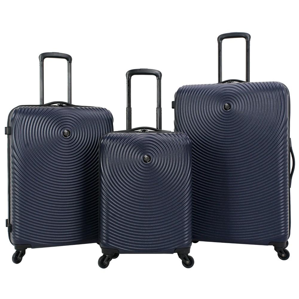 Image of Skyline 3pc Spinner Hardside Luggage Set - Navy, Blue