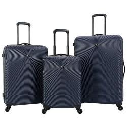 Skyline 3pc Spinner Hardside Luggage Set - Navy