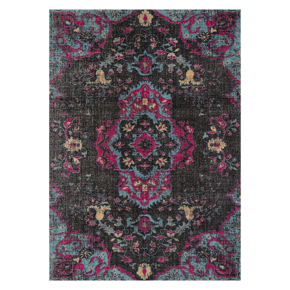 2'X3' Medallion Loomed Accent Rug Charcoal (Grey) - Momeni