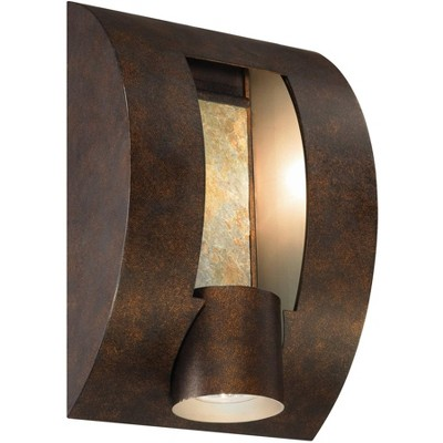 Franklin Iron Works Modern Outdoor Wall Light 12 inch Exterior Bronze Fixture Downlight for House Patio Porch Deck