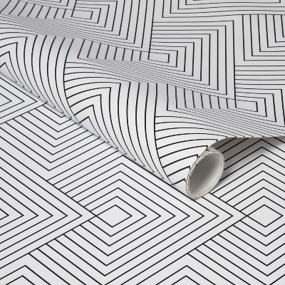 Diamonds Peel & Stick Wallpaper Black/White - Project 62™