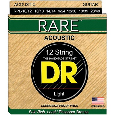 DR Strings Rare Phosphor Bronze Lite 12-String Acoustic Guitar Strings