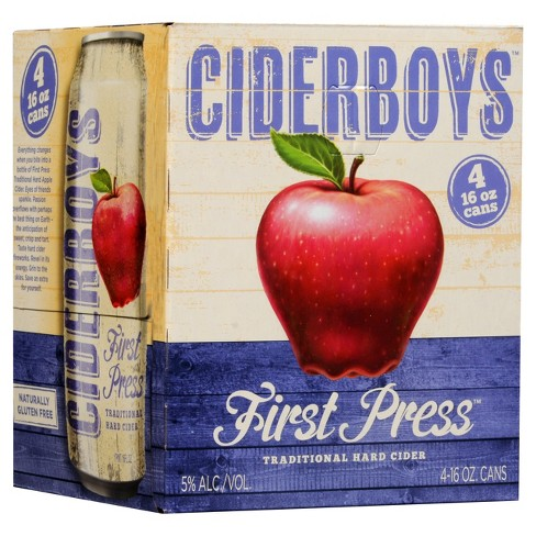 Ciderboys® First Press - 4pk / 12oz Cans - image 1 of 1