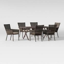 Monroe 7pc Patio Dining Set - Tan - Threshold™