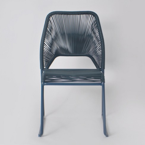 Fisher Patio Dining Chair Blue Project 62