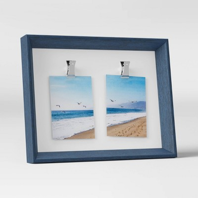 """3"""" x 4"""" Wedge Double Clip Picture Frame Navy - Room Essentials™"""