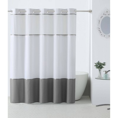 Windstar Shower Curtain with Liner Gray - Hookless