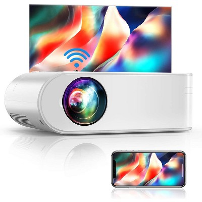 Yaber V2 Mini Wifi Projector Full HD 1080P and 200 Supported, Portable Wireless Mirroring Projector for iOS Android TV  Stick PS4 PC Home & Outdoor
