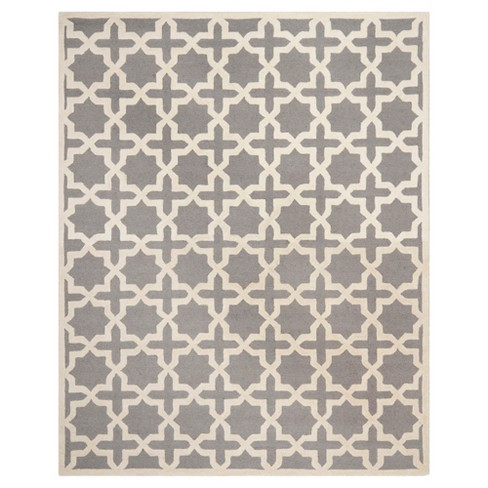 Marnie Area Rug Silver Ivory 11 6 X 16 Target