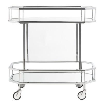 Silva 2 Tier Octagon Bar Cart Safavieh Target