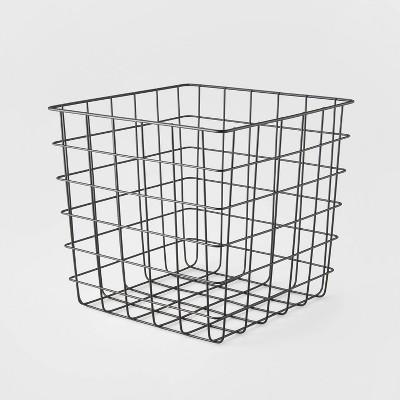 Decorative Basket Steel Square Black - Room Essentials™