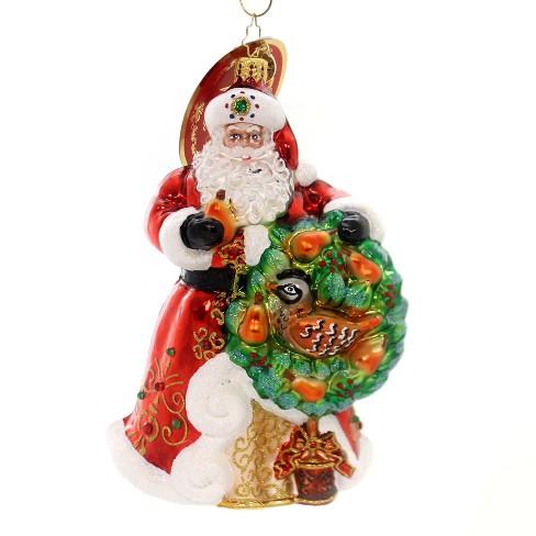 "Christopher Radko 6.5"" The Perfect Pear Partridge Tree Santa - image 1 of 2"