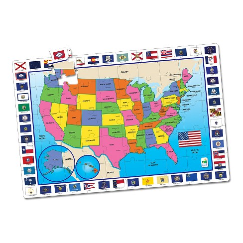 The Learning Journey Jumbo Floor Puzzles, 50pc - USA Map - image 1 of 2