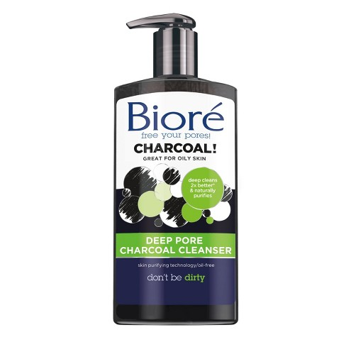Image result for biore deep charcoal cleanser
