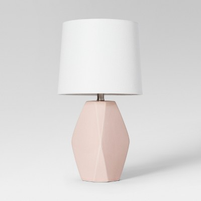 Modern Ceramic Facet Accent Table Lamp Blush Lamp Only - Project 62™
