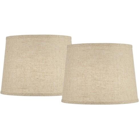 Burlap Linen Medium Drum Lamp Shades 11, 14 Inch Lamp Shade Harp