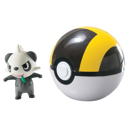 Pokemon Clip 'N' Carry Poke Ball with Figure Alolan Pancham and Ultra Ball - image 1 of 1
