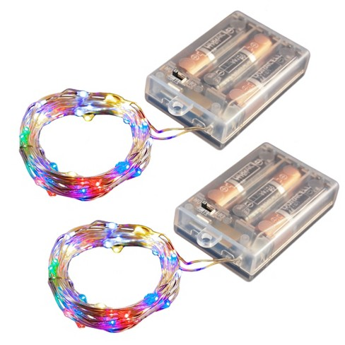 2ct Battery Operated Submersible Mini Fairy String Lights LED With Timer - image 1 of 3