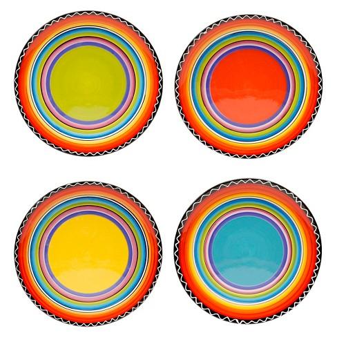 "Salad Plate 9"" Tequila Sunrise Set of 4 - Certified International - image 1 of 2"