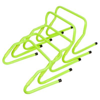Trademark Innovations Adjustable Speed Training Hurdles (Set of 5) - Light Green