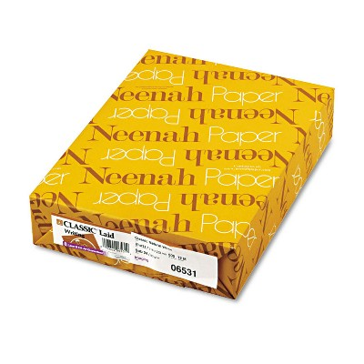 Neenah Paper CLASSIC Laid Writing Paper 24lb 8 1/2 x 11 Natural White 500 Sheets 06531
