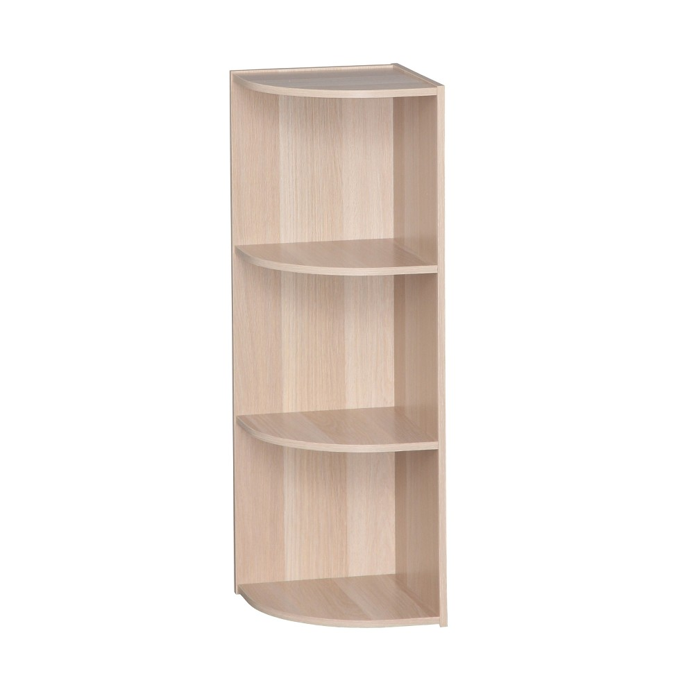 Image of IRIS 3 Tier Corner Storage Shelf - Natural