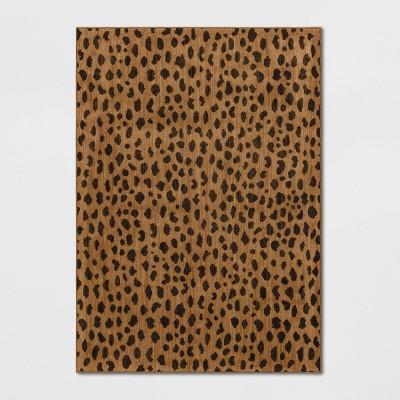 5'X7' Leopard Spot Woven Rug Copper - Opalhouse™