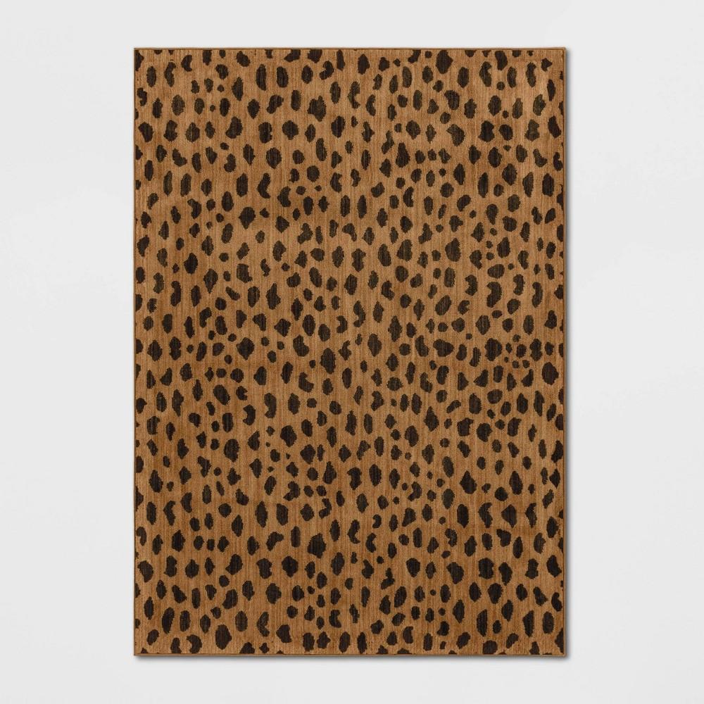 Leopard Spot Rug Copper