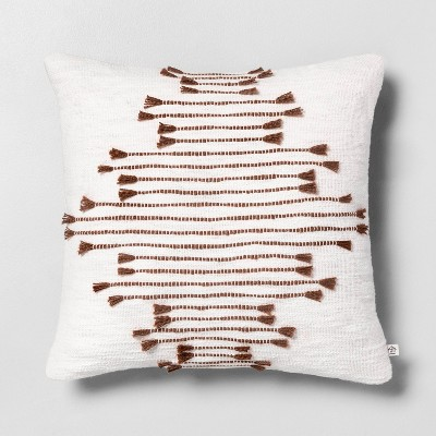 "18"" x 18"" Multi Texture Dash Throw Pillow Rust - Hearth & Hand™ with Magnolia"