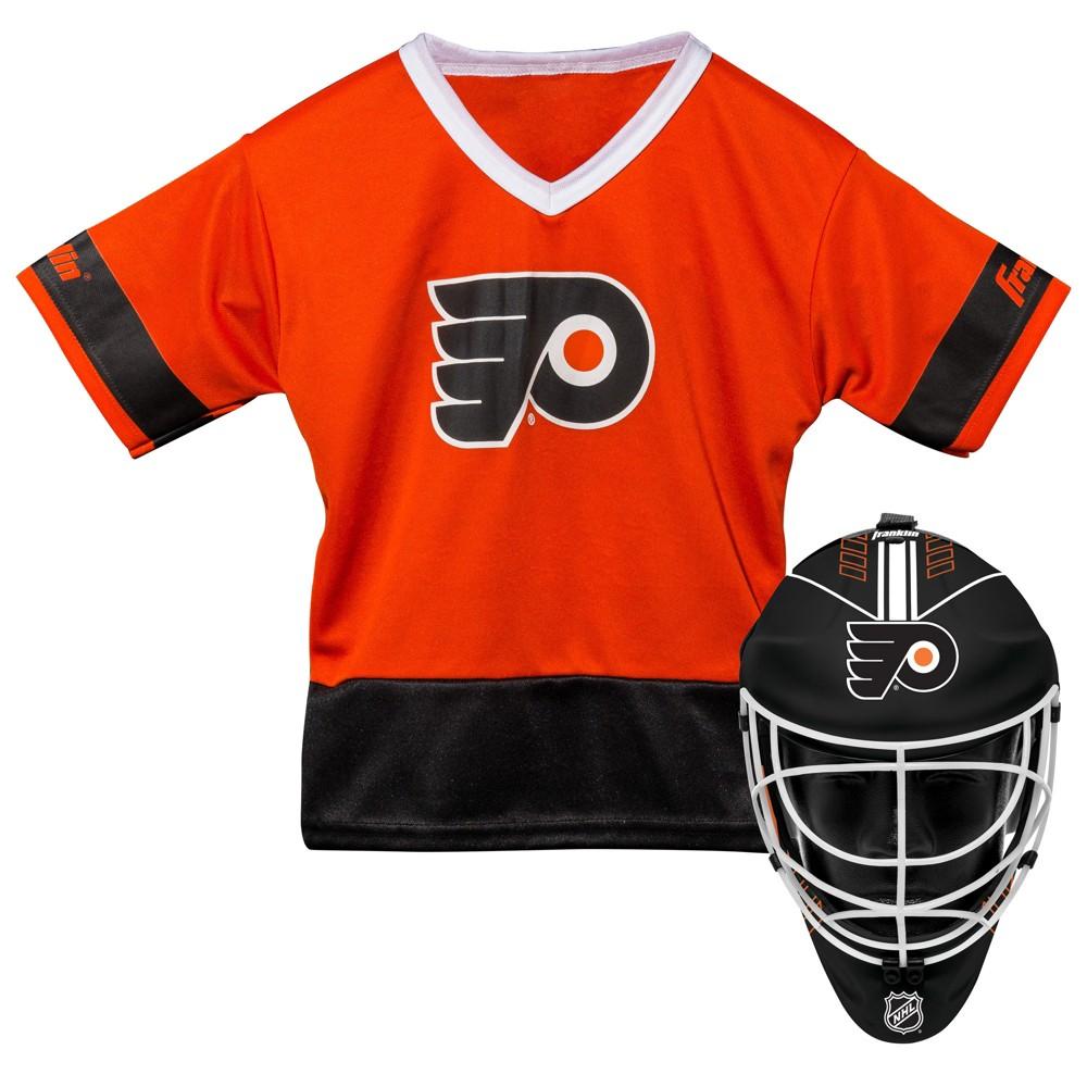 NHL Philadelphia Flyers Franklin Sports Jersey and Helmet Set