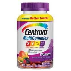 Centrum MultiGummies Women's Multivitamin Gummies - Cherry, Berry & Orange - 150ct