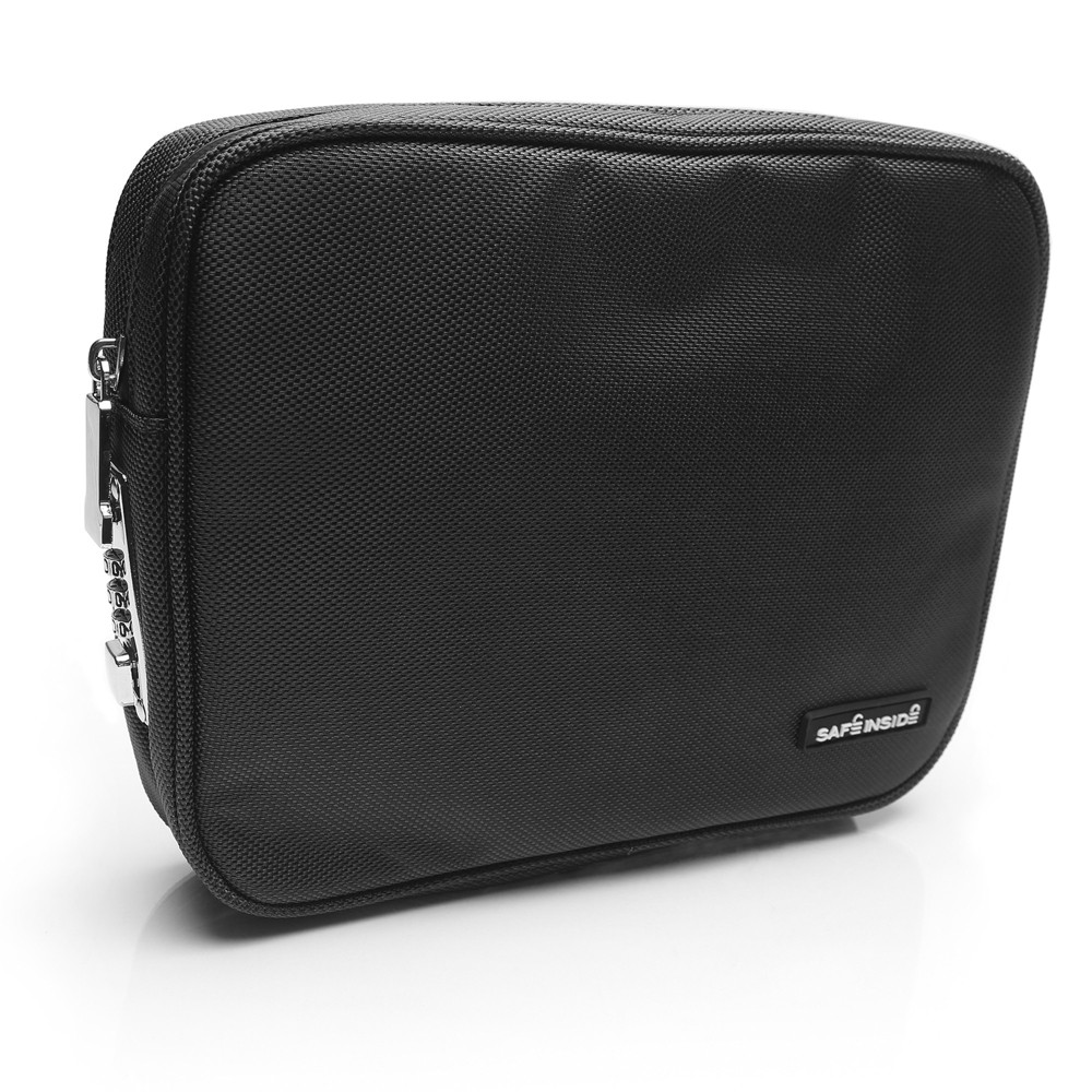 Safe Inside Locking Privacy Pouch - Large Black