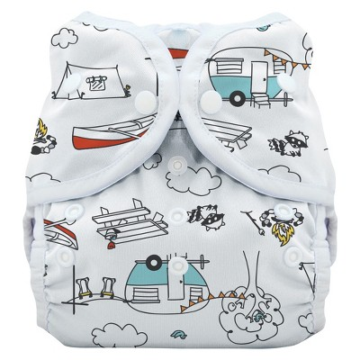 Thirsties Snap Duo Wrap Diaper, Size Two - Happy Camper